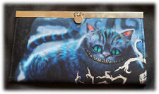 Disney Loungefly Rare Alice In Wonderland Movie Cheshire Cat Black Wallet Euc