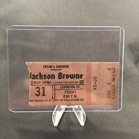 Jackson Browne Rupp Arena Lexington KY Concert Ticket Stub Vtg March 31 1978