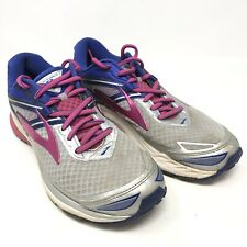 Brooks Ravenna 8 Womens Size 7.5m Gray Blue Pink Running Shoes Lace Up
