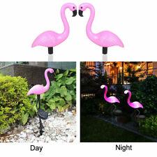 Waterproof LED Solar Power Flamingo Lawn Lamp Light Garden Stake Landscape Decor
