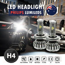 2x H4 PHILIPS 288W LED Light Beads Headlight H/L Beam Globes Bulb Upgrade 6000K