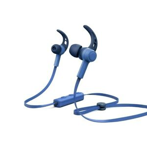 "Hama Bluetooth® ""Connect"" headphones Navy Blue in-ear, micro, ear-hook (UK) BNIB"