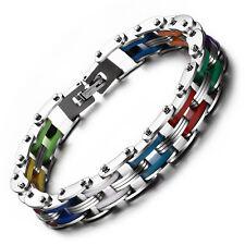 Pride Shack - Rainbow Steel Chain Bike Gear Bracelet - LGBT Lesbian Gay Pride