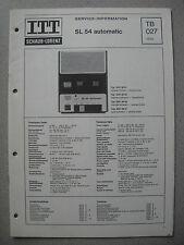ITT/Schaub Lorenz SL 54 Automatic Service Manual, TB027