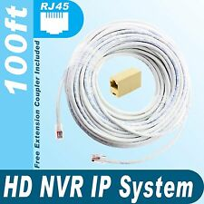 [100ft] HD NVR IP 100% Copper Premade Cable for Samsung SNK-D5081 System