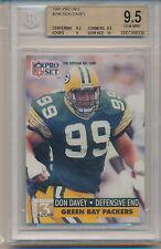 1991 Pro Set Football Don Davey (#796) BGS9.5 BGS