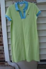LACOSTE Green Polo Shirt Dress Sz 42, cotton blend