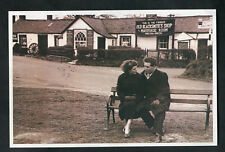 C1990s Nostalgia Card: 1956 View Young Couple on Bench, Gretna Green