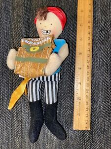 Pirate Tooth Fairy Pillow doll Personalized ceramic sword included!