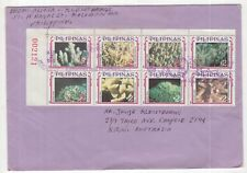 Philippines 1996 cover to Australia with numbered stamp block