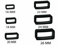 Rubber PVC Black Watch Strap Buckle Band Keeper Loop Hoop Holder Retainer Ring