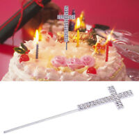 Diamante Rhinestone Cross Cake Topper for Baptism Christening Communion Party