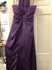 Tiffany's Christine Size 12 Purple Beautiful Evening Gown bridesmaids BNWT