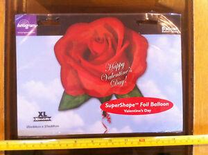 """Balloon Valentine Rose Flower Happy Valentines Day Foil Helium HUGE 25"""" x 27"""""""