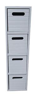 4 Drawer Chest Cabinets Storage Unit Bathroom Fully Assembled Home Grey -0314