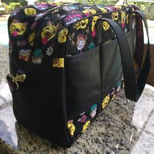 Betsey Johnson. Large Black Overnight Zip Travel Bag Luggage Accessory NEW/TAGS
