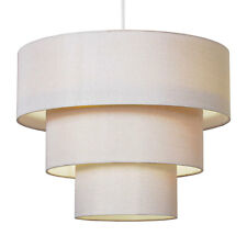 Modern Cream Fabric 3 Tier Easy-Fit Ceiling Light Lamp Shade Pendant Lampshade