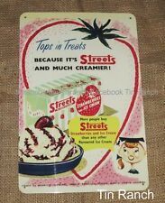 STREETS ICE CREAM TIN SIGN new vintage retro Australian milk bar old kitchen art
