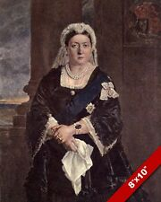 QUEEN VICTORIA PORTRAIT VICTORIAN LONDON ENGLAND BRITISH ART REAL CANVAS PRINT