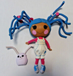Lalaloopsy Silly hair doll Mittens blue hair Fluff n stuff large 34cm + pet