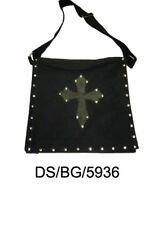 Dark Star Black Stud Cross PVC Canvas Gothic Skull Book Bag