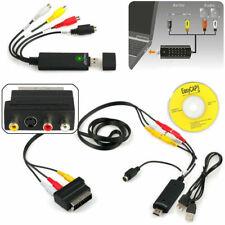 USB 2.0 VHS Video Capture Card for Windows 10/8/7/Vista/XP/2000 +Scart RCA Cable