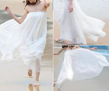 Summer Women's Casual Loose Maxi Skirts BOHO Chiffon Ladies long Pleated Skirt