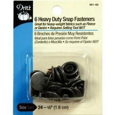 Dritz Heavy Duty Snap Fasteners-Antique Silver - Size 24 - 5/8 inch - 6 Count, N
