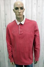 MURPHY&NYE Polo Uomo Taglia 2XL Maglietta Cotone Casual Maglia Manica Lunga