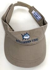 e9a68ef5 Southern Tide Skipjack Hat Visor Adjustable Strapback Tan Cap Fish