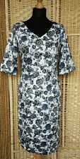 Cotton Blend V-Neck Party Floral Dresses for Women