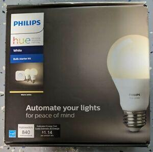 Philips Hue Warm White Bulb Starter Kit 840 Lumen 455287 2 Pack