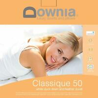 DOWNIA 50% White Duck Down 50% White feather Cotton Case Quilt Doona Single Bed