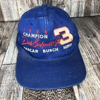 VINTAGE DALE EARNHARDT JR #3 NASCAR BUSCH SERIES CHAMPION 1998 CAP HAT SNAPBACK