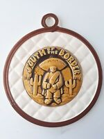 Vintage 1960s South of the Border Mexico Ceramic Hanging Wall Plaque