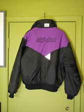 Vintage Ski-Doo Bombardier Purple black Snowmobile Jacket Sz. M Medium Ski Doo