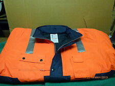 Superior Safety Orange fluorescent hi-viz all-weather winter work jacket 5XL New