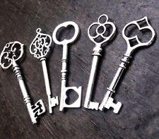 Skeleton Keys Steampunk Assorted Large 61-82mm Antiqued Silver 500pcs Bulk Lot