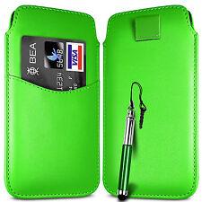 CARD SLOT PU LEATHER PULL FLIP TAB CASE & RETRACTABLE PEN FOR MOTOROLA PHONES