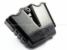 """China Made Airsoft Plastic Double Magazine 1.5"""" Belt Pouch Holster For XDM Black"""