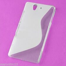 Clear Transparent S Wave Back Skin Hard Cover Protector Sony Xperia Z L36h