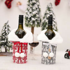 Couvre-bouteilles de vin de Noël Sac Couvre-bouteille de champagne de vacanceW1F