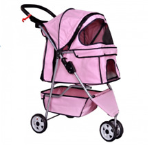 Pet Stroller 3 Wheels Cat Dog Cage Jogging Stroller Travel Folding Carrier Safe