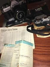 Canon Ae-1 Slr Film Camera - Black With Tons Of Accessories And Lens