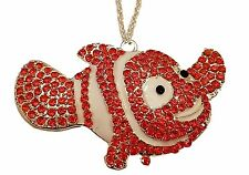 "Disney's Finding Nemo NEMO Character Rhinestone Pendant Necklace with 16"" Chain"