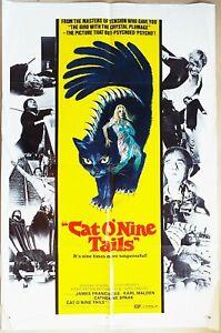 Cat O' Nine Tails 1971  James Franciscus, Karl Malden Dario Argento US Poster