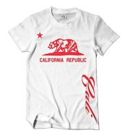Proud California Republic T-Shirt Cali State Bear Flag Star Tee Men's T Shirt