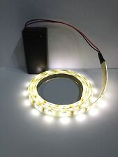 Display Warm White Led Light Strip 9V Battery Operated 500mm Waterproof Strip