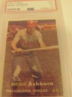 1957 RICHIE ASHBURN HOF  TOPPS #70 PSA 5 GRADED VINTAGE PHILLIES