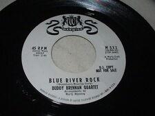 BUDDY BRENNAN QUARTET Blue River Rock/Peg O' My Heart 45 Promo Warwick Rocker